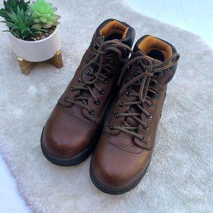Timberland   TiTAN Brown Alloy Toe Work Boot 7.5